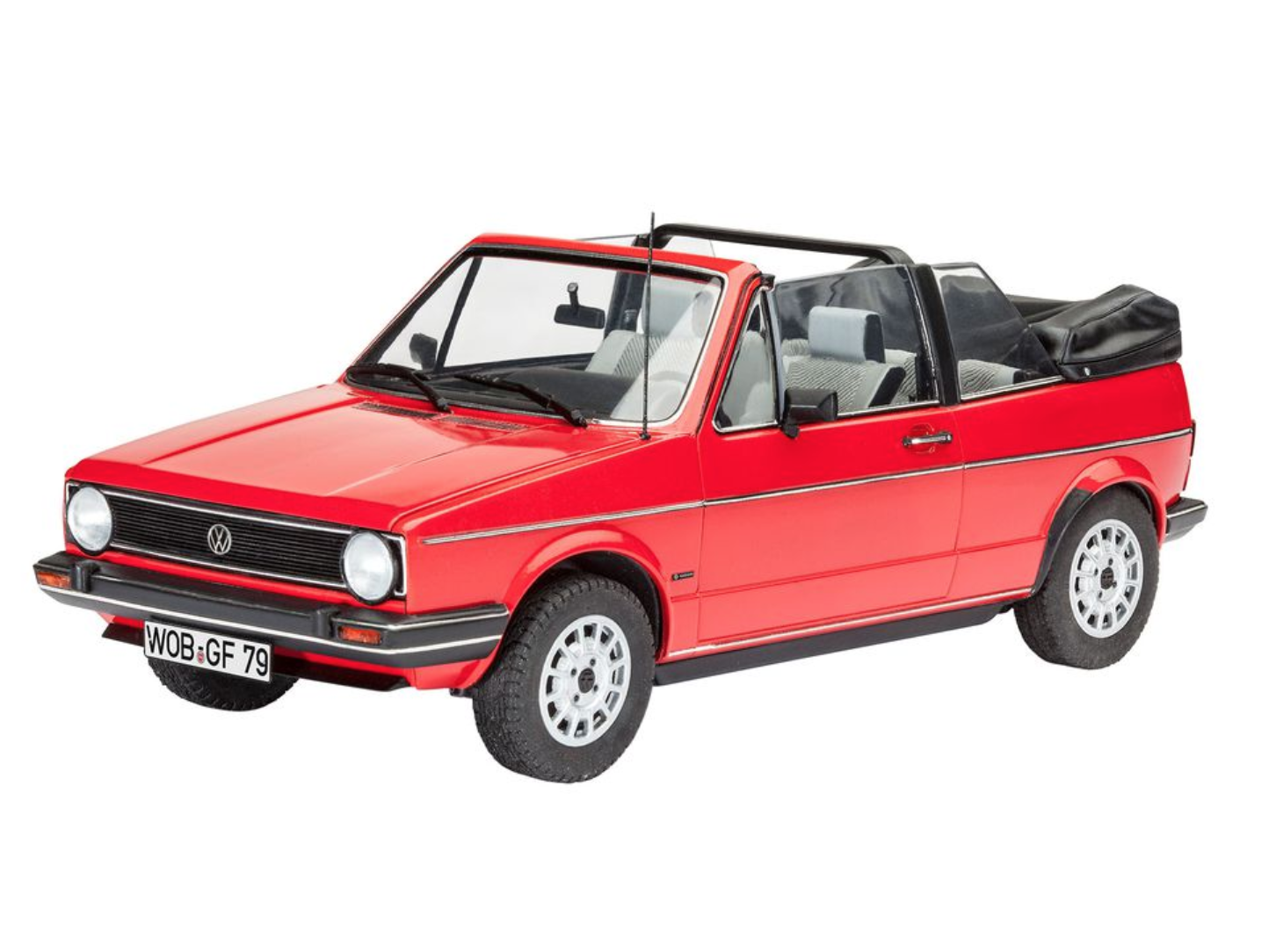 vw golf 1 cabriolet model kit by revell 1 24 scale choice gear. Black Bedroom Furniture Sets. Home Design Ideas