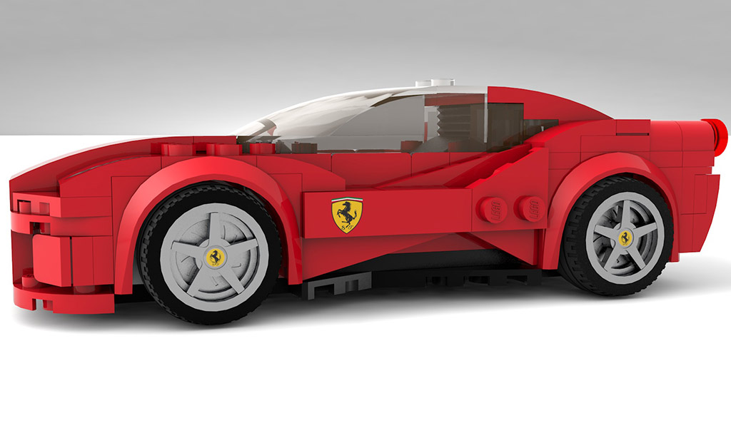 speed champions style ferrari 488 gtb on lego ideas choice gear. Black Bedroom Furniture Sets. Home Design Ideas